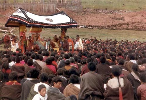 Kyabje Dorzong Rinpoche In Tibet